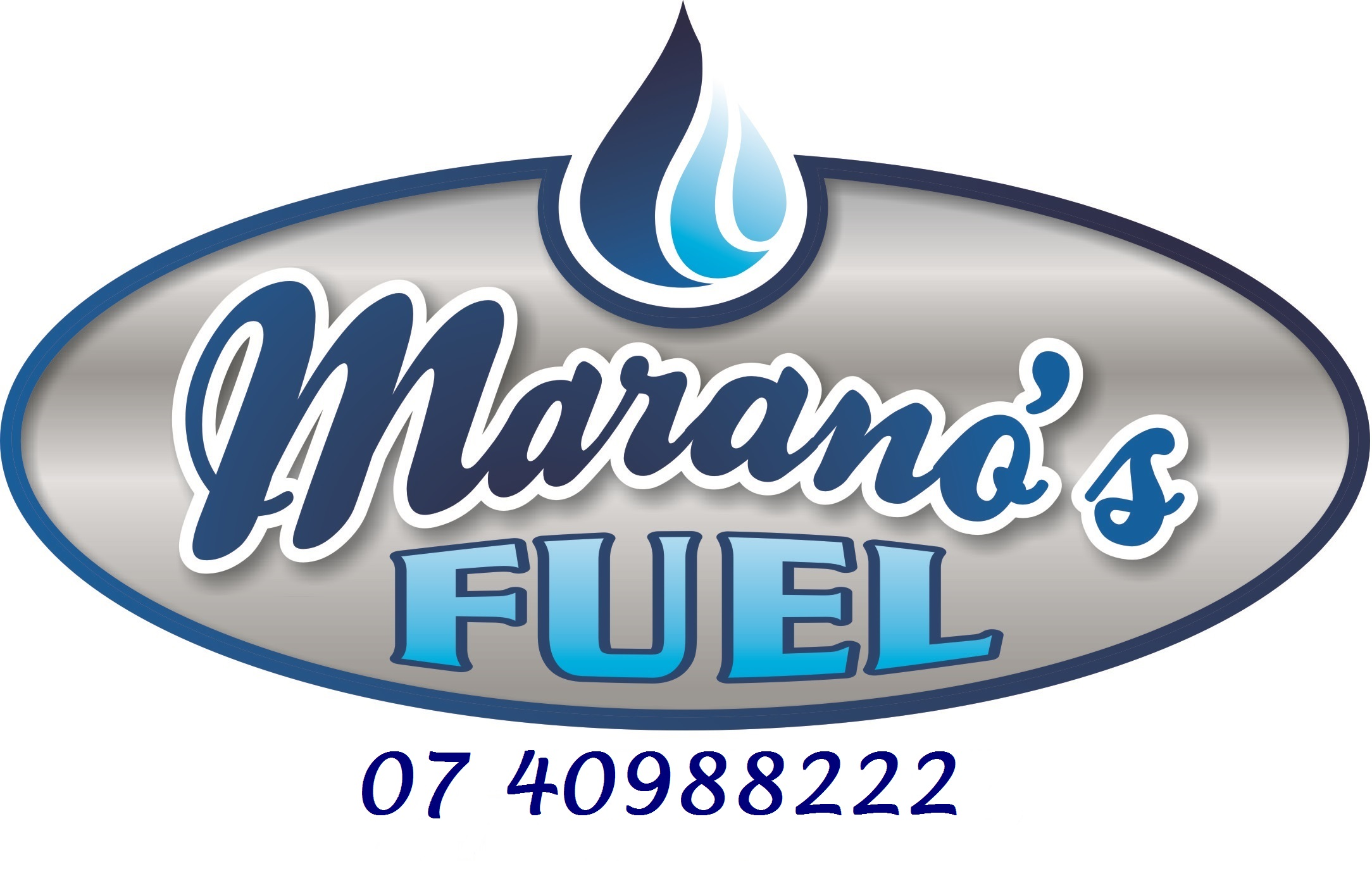 Marano's Fuel Logo & phone